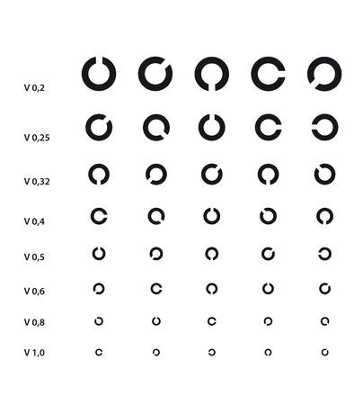 Medical Eye Chart with Landolt C