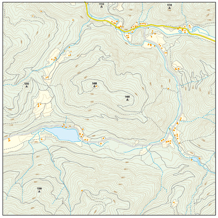 Imaginary topographic map