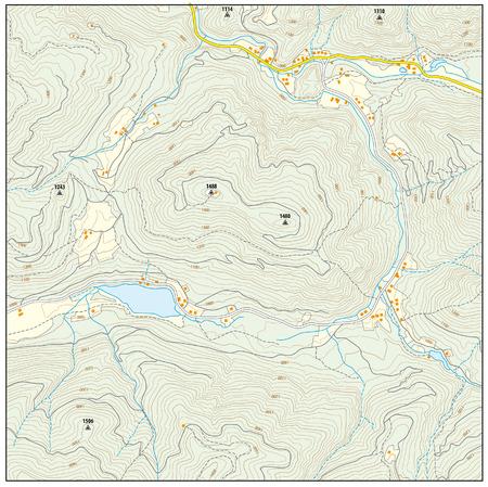 topographic: Imaginary topographic map