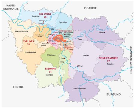 ile de france: Ile de France administrative map