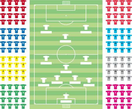 formation: football formation tactics Illustration