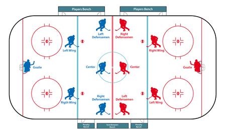 Patinoire de hockey sur glace Banque d'images - 44848097