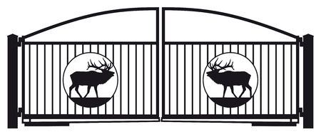 metal gate: Irongate with deer ornament