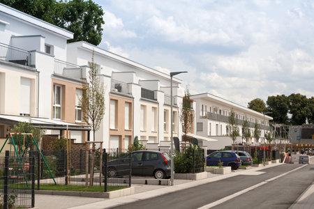 ドイツ ・ フランクフルトの近くの新しい住宅開発 報道画像