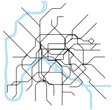 Paris metro map Illustration