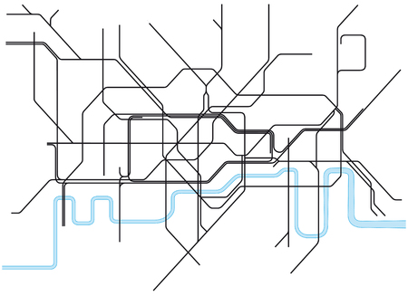 uk map: London subway map