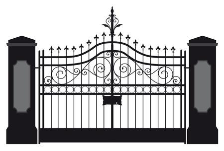 puertas de hierro: Puerta de Hierro Vectores