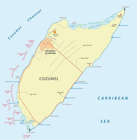 cozumel: Cozumel map