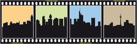 frankfurt: frankfurt skyline silhouette,