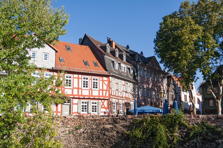 town houses: Historic Old Town Frankfurt-Hchst with its half-timbered houses