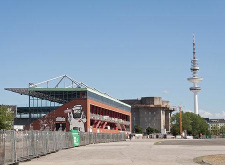 st pauli: Millerntor stadium of football club FC St Pauli on the Holy Spirit Field