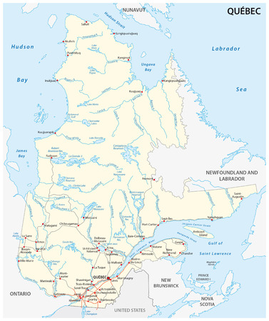 quebec: Quebec road map