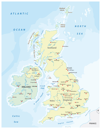 United Kingdom and Ireland map Reklamní fotografie - 46717455