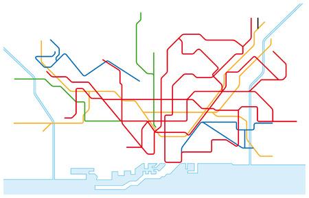 carte du trafic réseau Barcelone