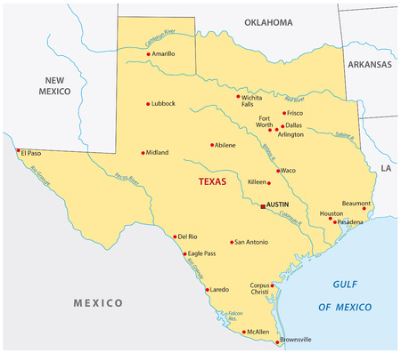 Simple texas state map