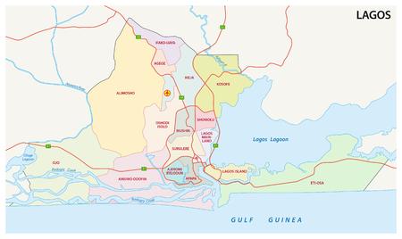 lagos: Lagos, Nigeria administrative map