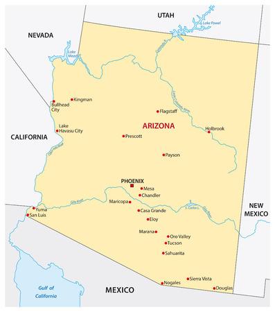 Simple arizona state map Illustration