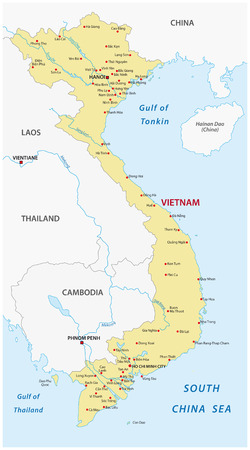 Vietnam kaart Stock Illustratie
