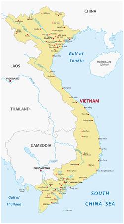 Vietnam map Vettoriali