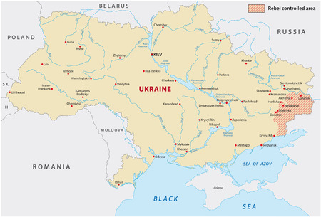 luhansk: Ukraine rebel controlled area map