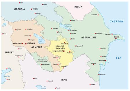 azerbaijan: Nagorno-Karabakh conflict map