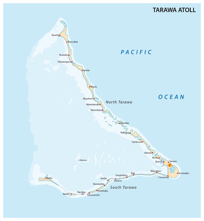 gilbert: Tarawa Atoll, Kiribati Illustration