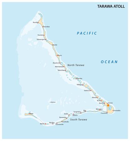 atoll: Tarawa Atoll, Kiribati Illustration