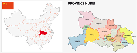 province: Hubei Province administrative map