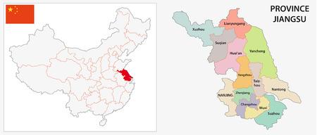 administrative: Jiangsu Province administrative map