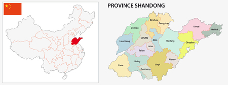 china map: Shandong Province administrative map