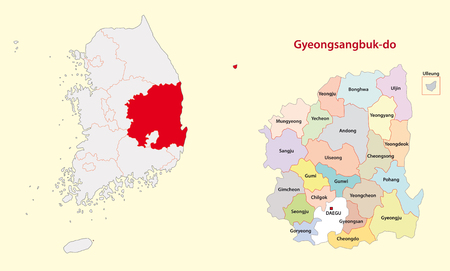 Korea North Gyeongsang Province map south
