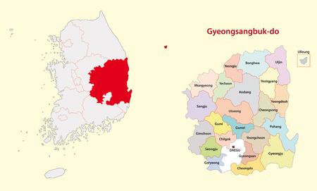 Korea North Gyeongsang Province map south