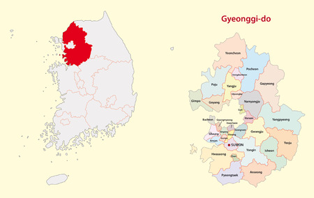 seoul: Gyeonggi Province map south korea