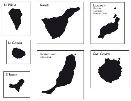 Kanarische Inseln Karten Standard-Bild - 48102730