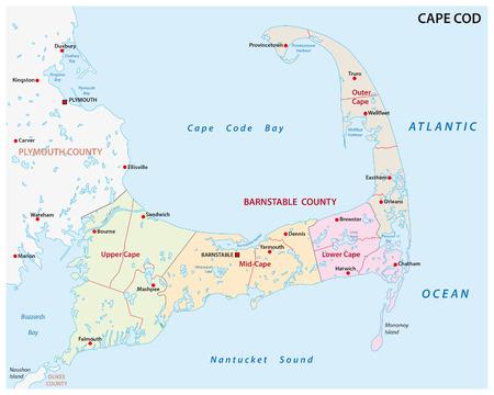 ケープコッドの行政地図
