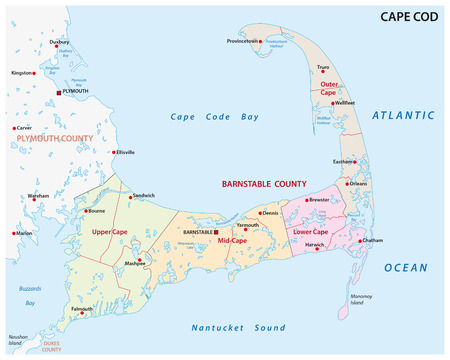 cape cod administrative map