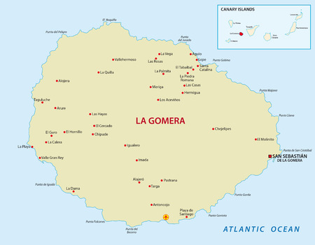 canary islands: La Gomera with overview map