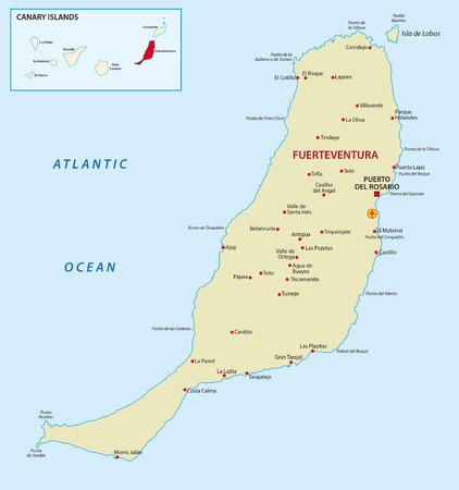 archipelago: Fuerteventura with overview map