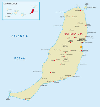 Fuerteventura with overview map