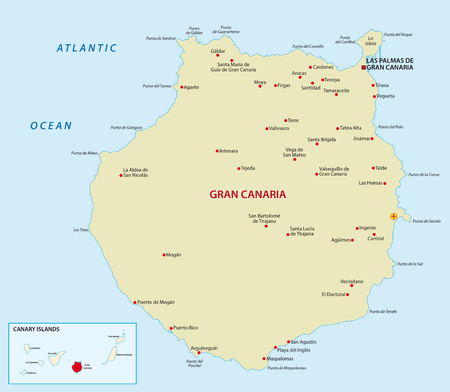 canaria: Gran Canaria with overview map