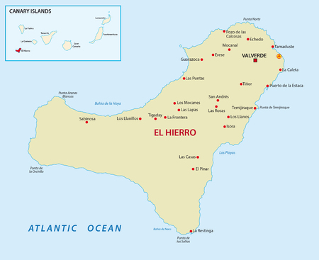El Hierro with overview map