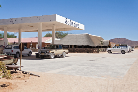 aridness: Solitaire gas station on the road C19 Namibia
