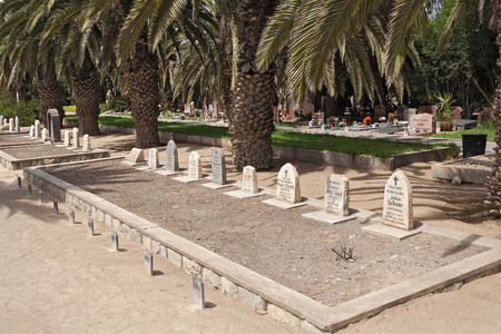 military cemetery: German Old Soldiers Graves in the cemetery Swakopmund, Namibia Editorial