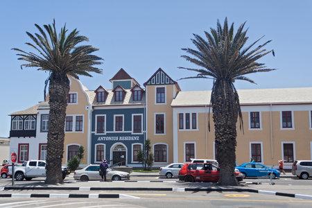 swakopmund: Historic center of Swakopmund with Colonial Houses Namibia