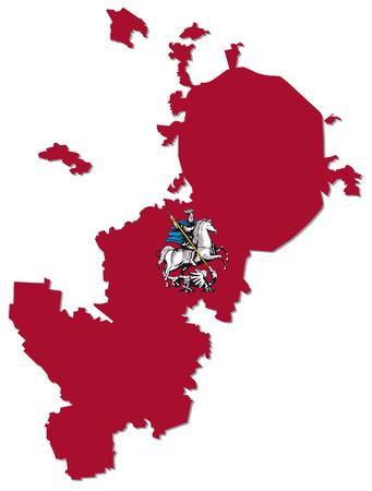 Mapa de Moscú con el escudo de armas