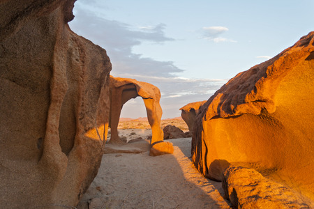 large formation: Granite rock formations north of the Brandberg, Namibia