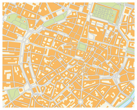 Monachium mapie Ilustracje wektorowe