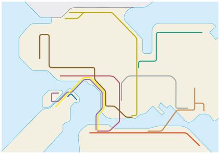 urbane: Route map of the Hong Kong metro