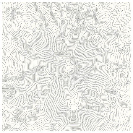 detailed topographic map with contour lines of a mountain