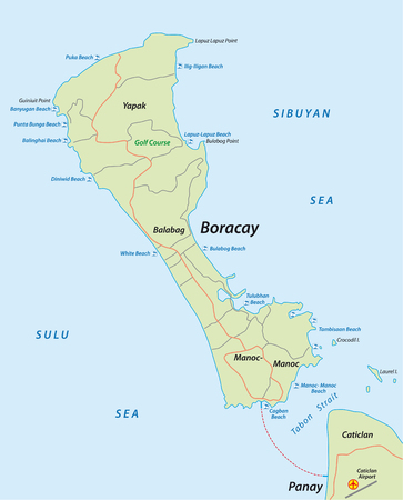 boracay: Boracay Map of the Philippine resort Iceland